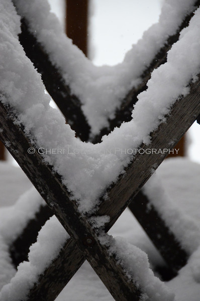 """The Letter """"X"""" as it appears in snow."""