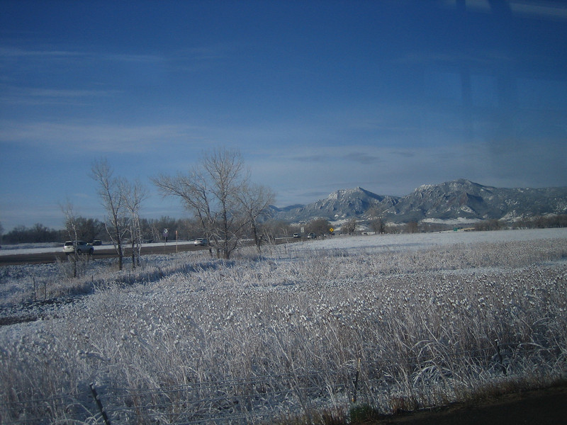 Flatirons after heavy snow. April 2008