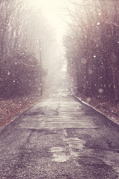 Winters Glowing Road