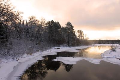 Winter Sunrise on the River  3