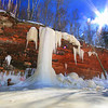 The Walls Came Tumbling Down.<br /> Apostle Islands National Lakeshore Ice Caves March 2014