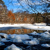 """ Beautiful Winter Reflections ""  3  Manitowish River Boulder Junction Wisconsin"