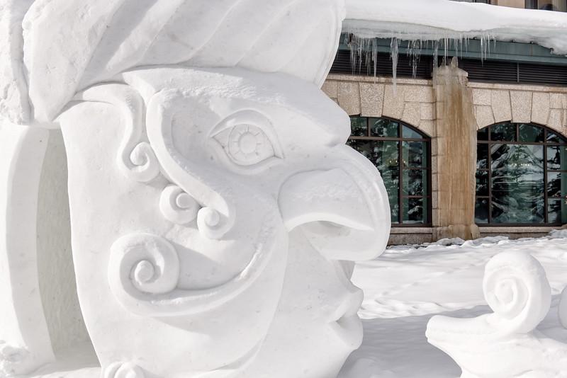 Snow Scupture - Winter Wind