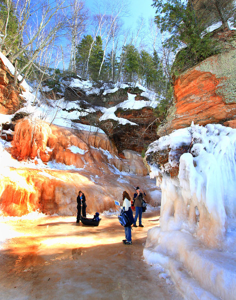 Amber World  2  <br />  Apostle Islands National Lakeshore Ice Caves March 2014