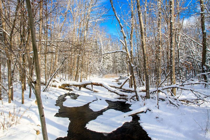 Allequash Creek in Winter