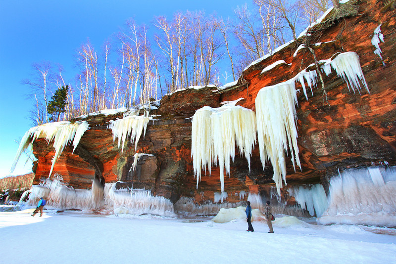 Icicles Galore 3<br /> Apostle Islands National Lakeshore Ice Caves March 2014