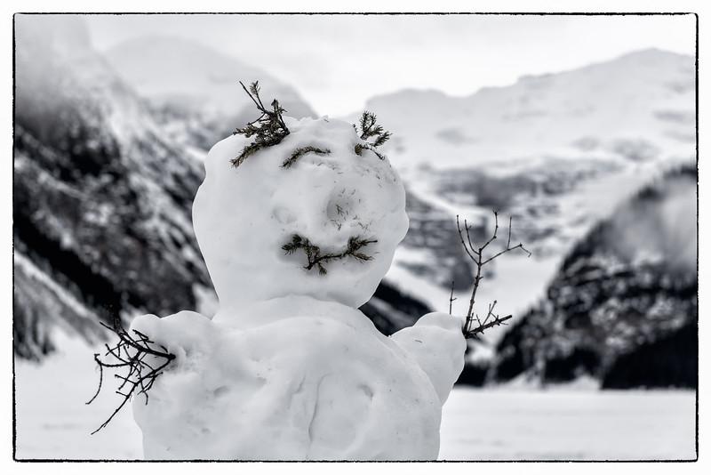 Lake Louise Snowman - January 2015