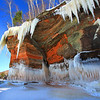 Red Cliffs and Icicles<br /> Apostle Islands National Lakeshore Ice Caves March 2014