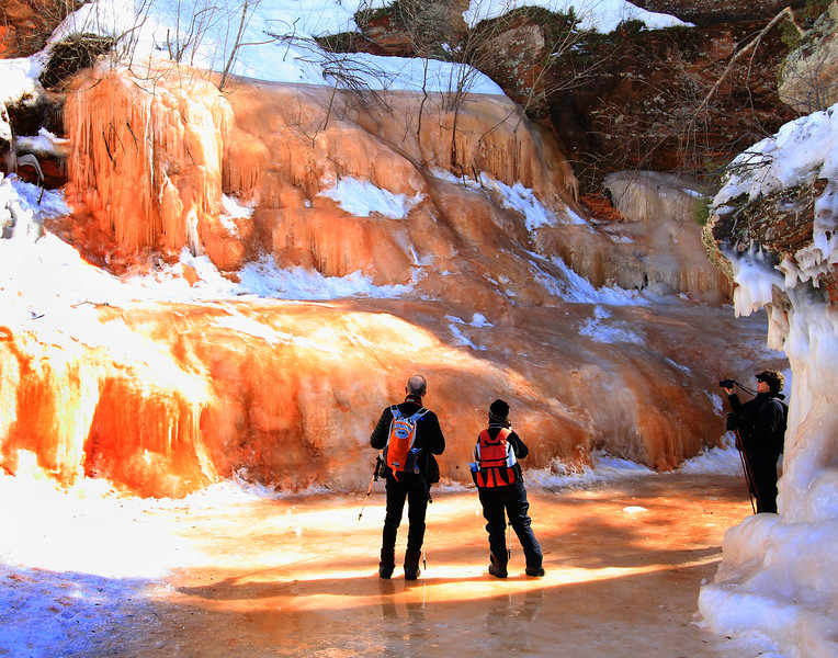 Amber World   <br />  Apostle Islands National Lakeshore Ice Caves March 2014