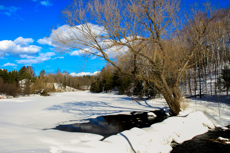 Early Spring Thaw on the Presque Isle River