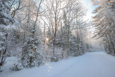 Frozen Sunrise at Trout Lake
