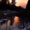 """ A Manitowish River Sunset Reflection "" Boulder Junction Wisconsin"