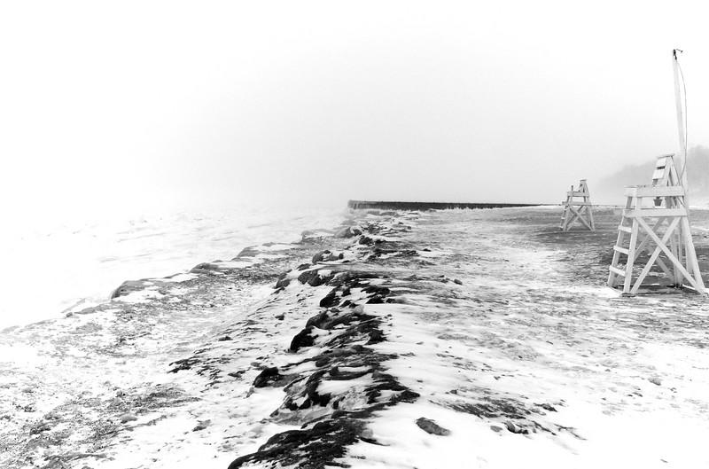 Glencoe beach, February (number 2).