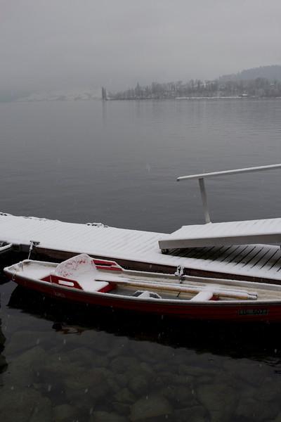 Switzerland, Lucerne, Canoe on the Lake SNM