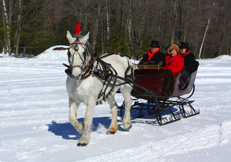 """What a Day For a Sleigh Ride"" Klondike Days Eagle River Wisconsin"