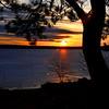 Frozen April Sunset