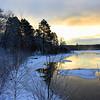 Winter Sunrise on the River