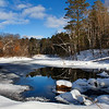 """ Beautiful Winter Reflections ""  2  Manitowish River Boulder Junction Wisconsin"
