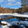 """ Beautiful Winter Reflections ""    Manitowish River Boulder Junction Wisconsin"