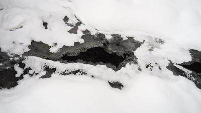 Freezing brook of Laajanoja