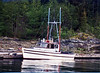 My old fishing boat the Filly, tied up in Refuge Cove near Desolation Sound around 1980.