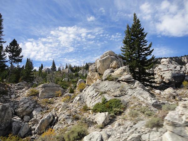 Rocks outside of Mammoth Geyers