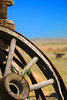 Abandoned stagecoach wheel