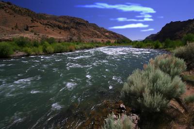 Yellowstone River close to Cody Wyoming
