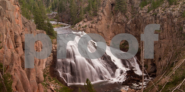 Gibbon Falls on the Grand Loop at Yellowstone National Park