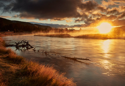Madison river at dawn - this was our first stop every morning