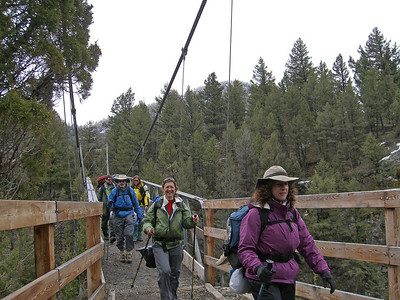 May 9 Yellowstone River suspension bridge