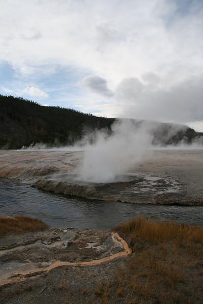 Cliff's geyser