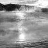 Yellowstone Geyser's near sunset
