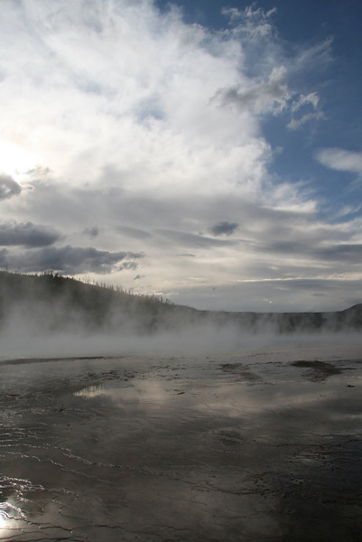 """Yellowstone geyser, Wyoming<br /> """"Vapor in the afternoon"""""""