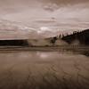 Yellowstone geysers Autumn