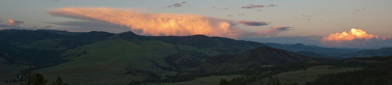 Sunset over the Lamar Valley