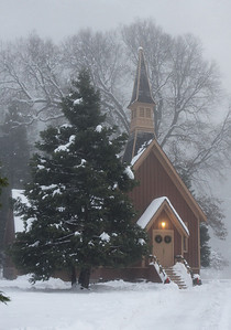 Yosemite Chapel in Winter.