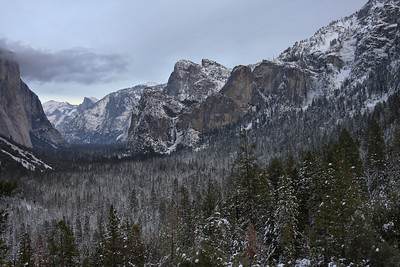 Tunnel View in all its snowy and dusty glory.