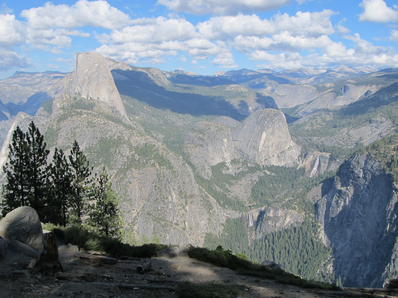 Half Dome, Vernal Fall and Nevada Fall all from the top of Sentinel Dome.