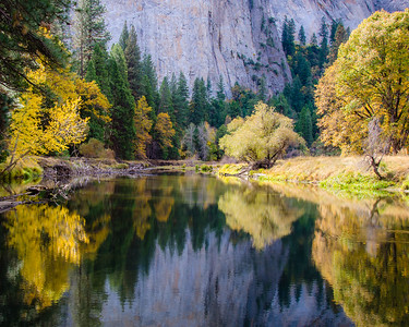 This view of the Merced River is from near the El Capitan Bridge.