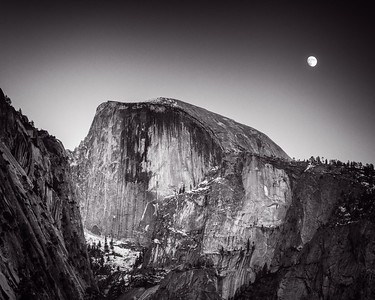Once more the moon came up near Half Dome as the sun was setting.
