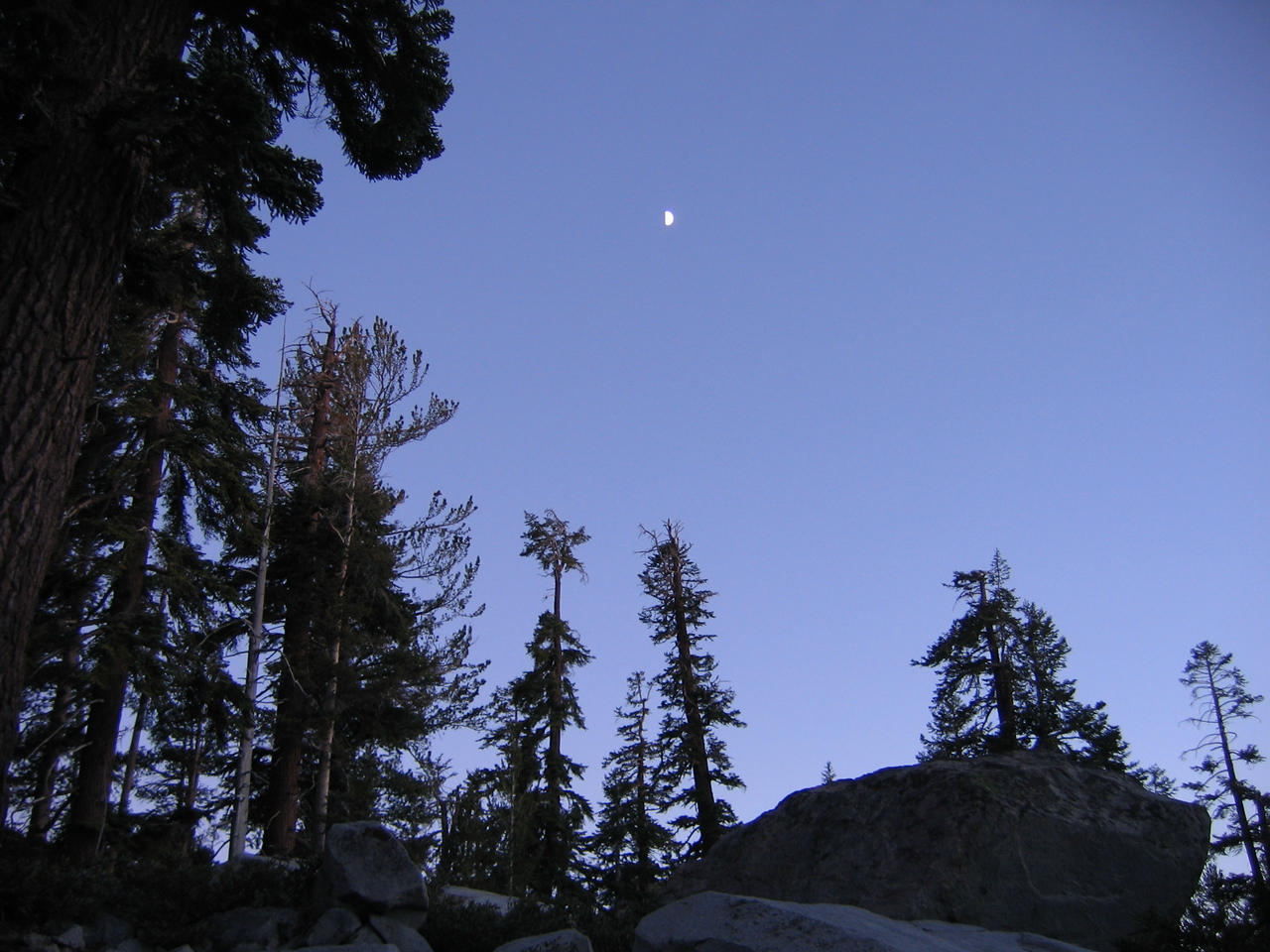 Night above our campsite.