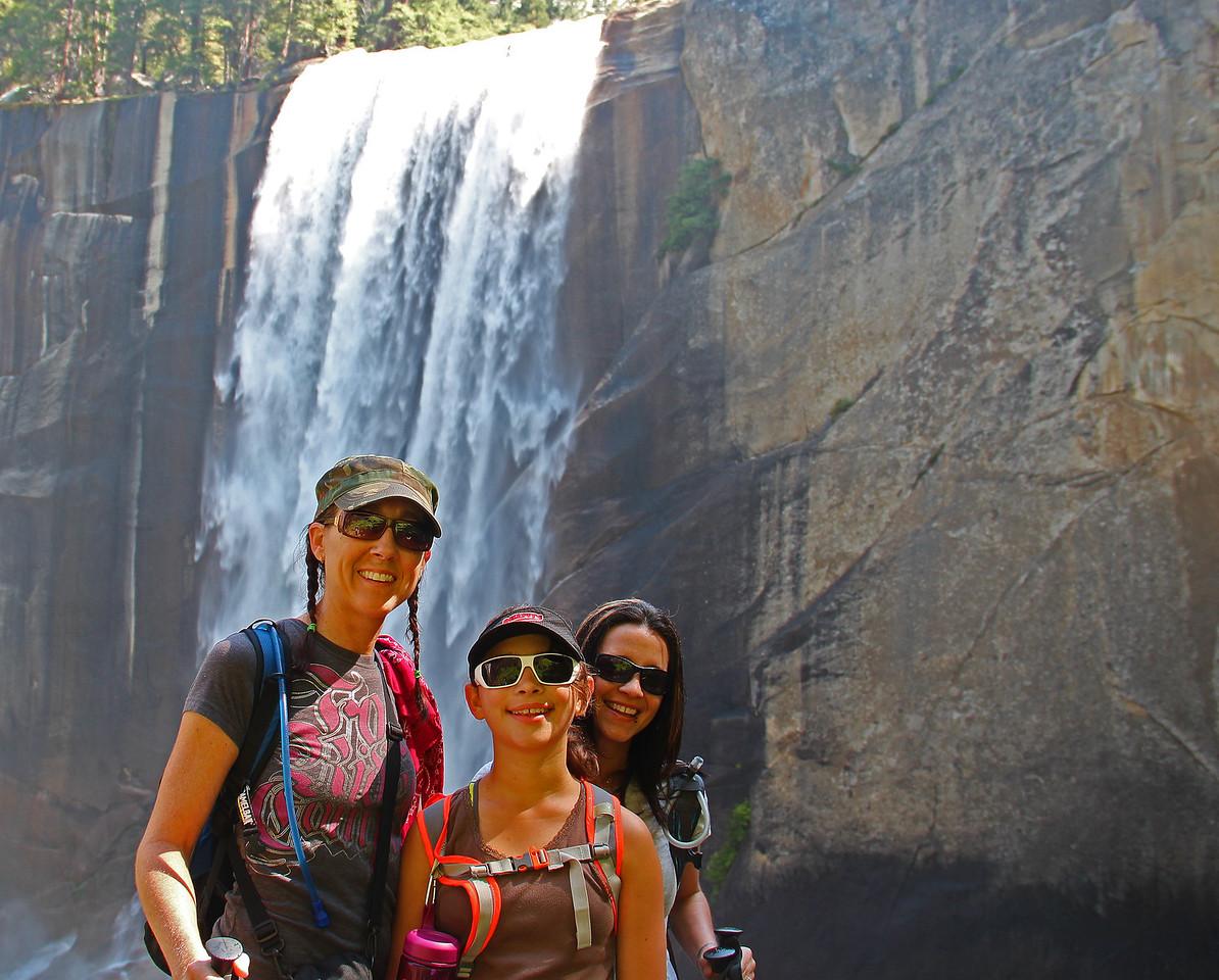 Bonnie, Elizabeth, and Tina - Vernal Falls