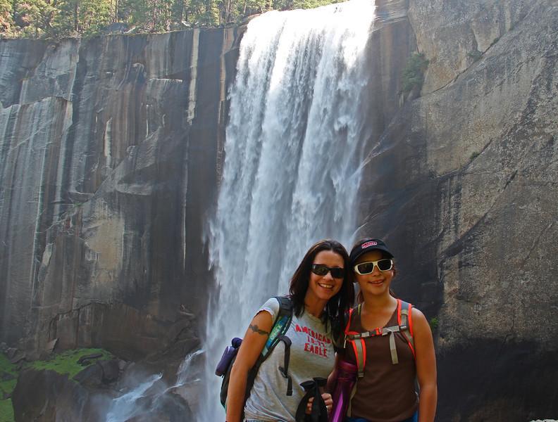 Fun for mom and daughter at Vernal Falls.