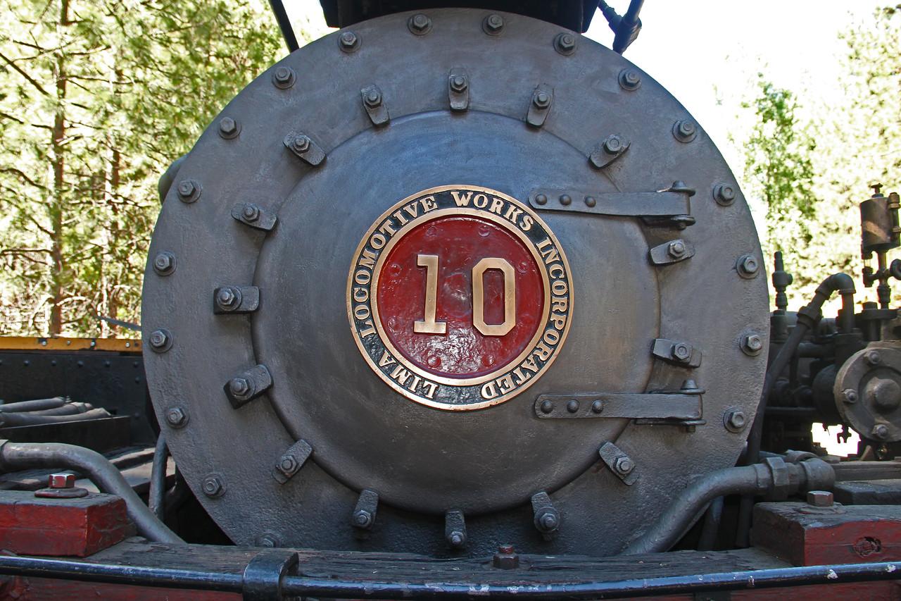 #10 Shay Engine at Yosemite Mountain Sugar Pine Railroad.