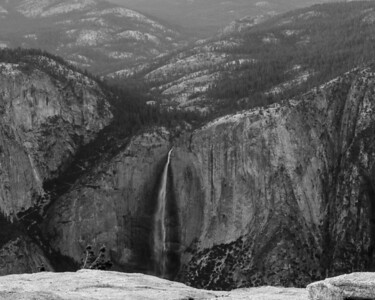 Late in the day. Yosemite Falls from the top of Sentinel Dome.