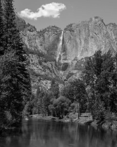 Yosemite Fall from Swinging Bridge.