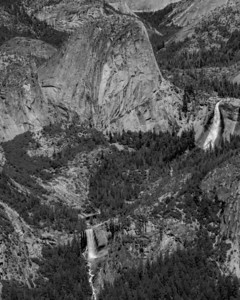 Liberty Cap sandwiched by Vernal and Nevada Falls.