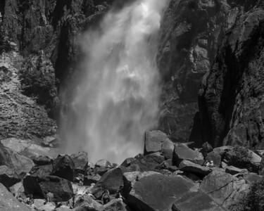 Lower Yosemite Falls as it reaches ground zero.