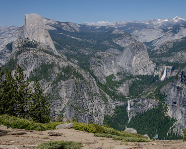 Half Dome, Vernal Fall, Nevada Fall and Liberty Cap from Washburn Point.
